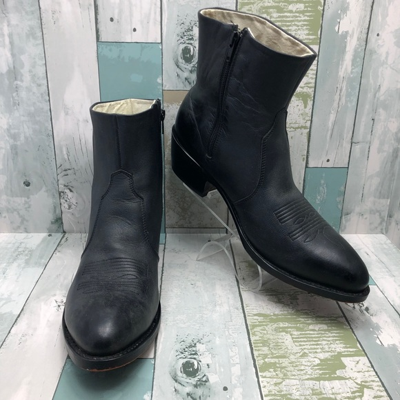 amazing price reasonably priced genuine shoes Durango Shoes | Mens Black Leather Side Zip Western Boots | Poshmark